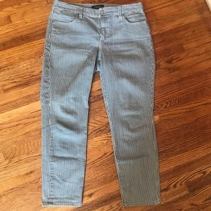 Talbots pinstripe jeans size 8p